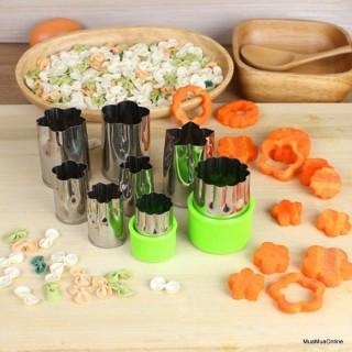 Bộ dụng cụ cắt tỉa rau củ quả 8 món - Dụng cụ cắt tỉa hoa quả đa năng - Khuôn tạo hình rau củ quả thumbnail