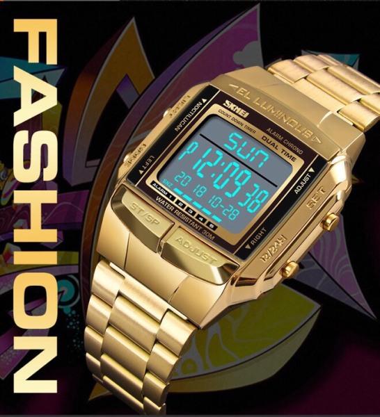 Đồng hồ thời trang nam Skmei dây kim loại cao cấp
