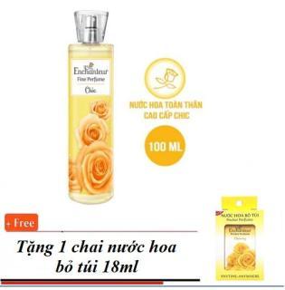 Mua 1 Chai Nước Hoa Xịt Toàn Thân Enchanteur Fine Perfume Chic 100ml chai vàng tặng nước hoa bỏ túi 18ml thumbnail