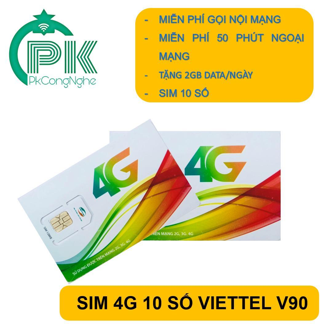 SIM VIETTEL V90 MIỄN PHÍ 60GB/THÁNG