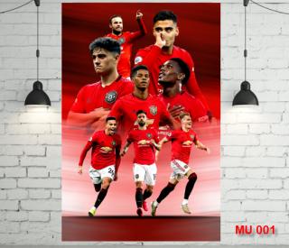 Decal dán tường Manchester united cực đẹp dễ sử dụng kích thước lớn 40x60cm - LiDO Sports thumbnail