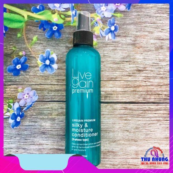[HCM]Xịt dưỡng tóc (xả khô) siêu mượt Livegain Premium Silky & Moisture Conditioner 250ml