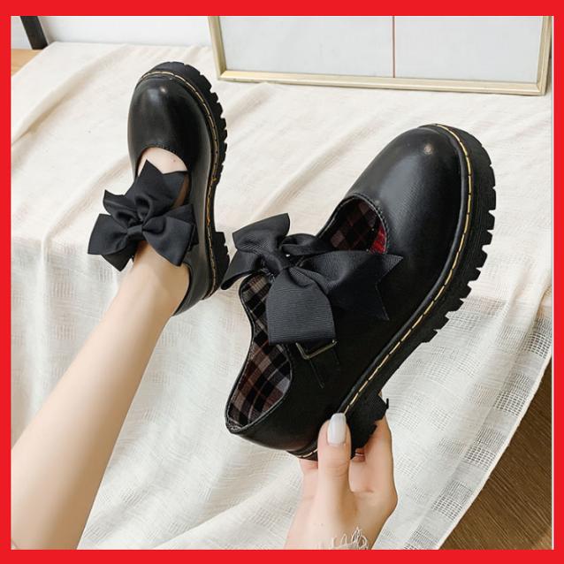 Giày Nữ Lolita Phối Nơ Phong Cách Nhật Bản giá rẻ