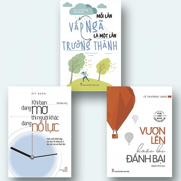 Mua Combo 3 cuốn nhất định phải đọc : Khi Bạn Đang Mơ Thì Người Khác Đang Nỗ Lực + Mỗi Lần Vấp Ngã Là Một Lần Trưởng Thành +Vươn Lên Hoặc Bị Đánh Bại