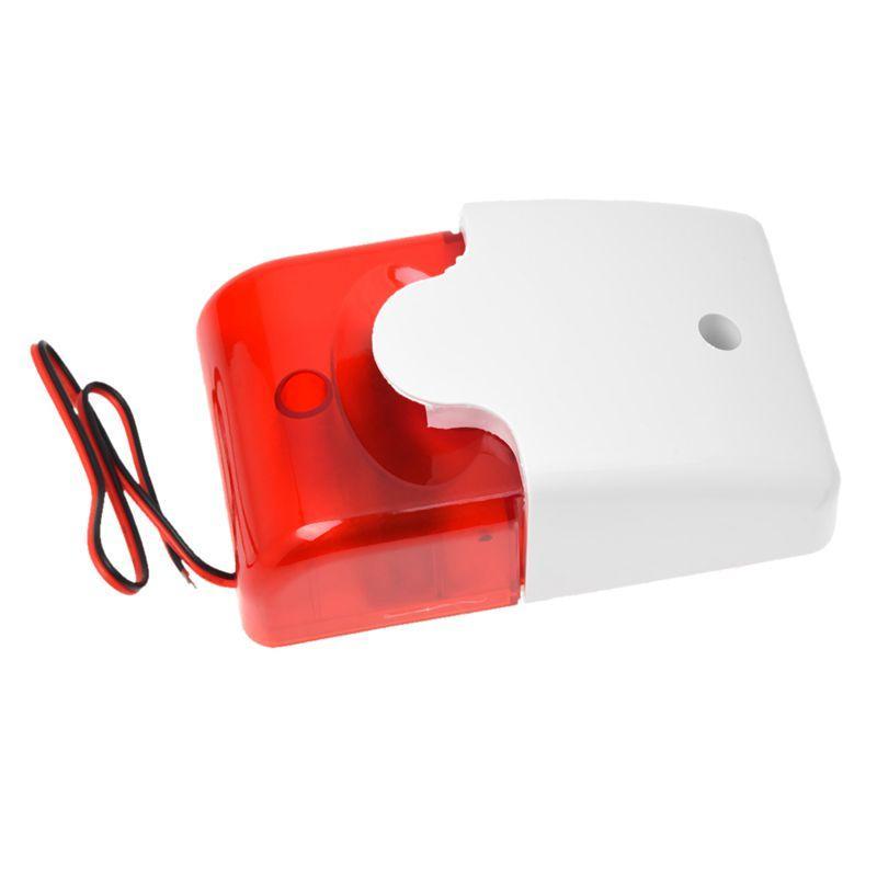 Mini 12 Volt Security Alarm Siren Red Light Replacement