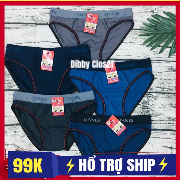 Combo 5 quần lót nam cotton 4 chiều co giãn, lưng thun mềm mại, phù hợp với mọi lứa tuổi Dibby Closet