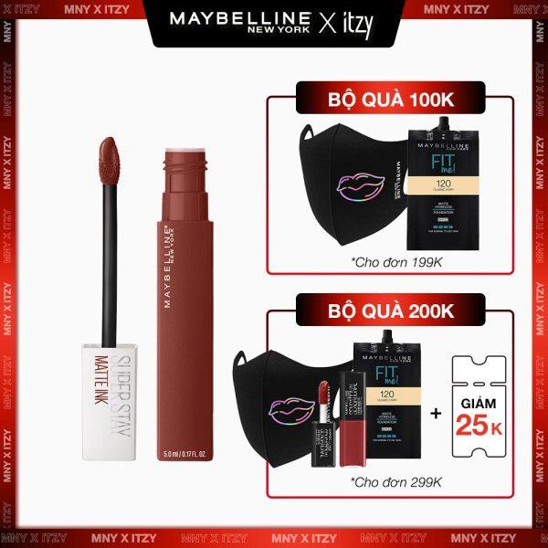 [Freeship 15K cho đơn từ 199K] Son Kem Lì 16H Lâu Trôi Maybelline New York Super Stay Matte Ink City Edition Lipstick 5ml