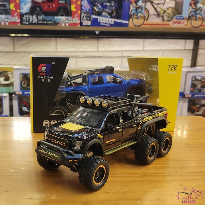 Mô Hình Xe ô Tô Ford F150 Raptor 6x6 Tỉ Lệ 1:28 Màu đen Không Thể Rẻ Hơn tại Lazada