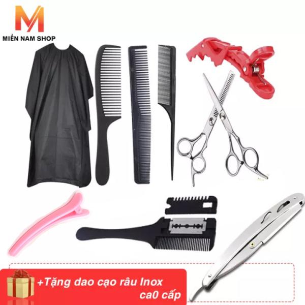 [HCM]Combo Bộ đồ nghề kéo cắt tóc 9 MÓN giá rẽ dành cho gia đình
