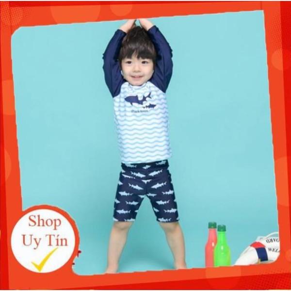 Nơi bán Bộ quần áo bơi kèm mũ dành cho bé xuất Nhật Shark Bros