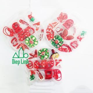 Bộ kẹp tóc Noel, dây buộc tóc Giáng Sinh -Bộ kẹp tóc cho bé gái - Diệp Linh thumbnail