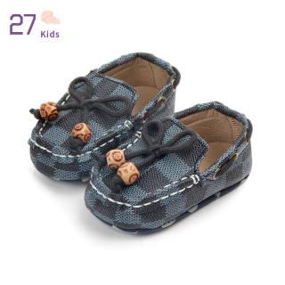 Giày Trẻ Em 27, Giày Trẻ Tập Đi Đế Mềm Chống Trượt Kẻ Ca Rô Cho Bé 0-12 Tháng Tuổi