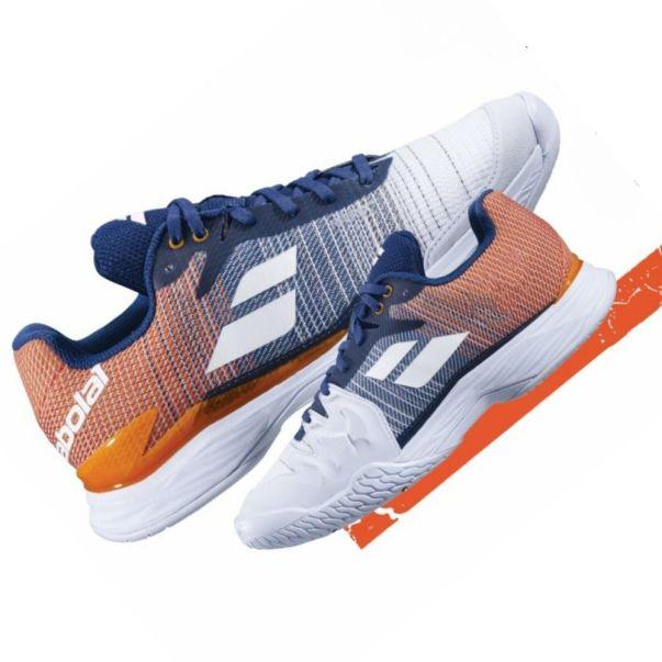 Giày tennis Babolat Jet Mach II  White/Pureed Pumpkin - AHA Sport giá rẻ