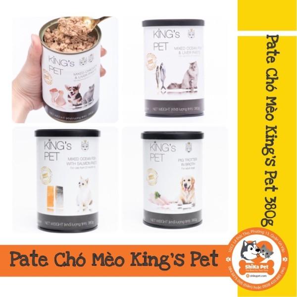 Pate Chó Mèo KingS Pet Vị Gà/Cá/Giò Heo/Cá Hồi 380G