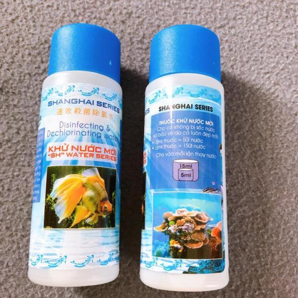 3 Chai Khử Nước Mới, Khử Clo SHANGHAI 125ml Cho Hồ Cá Cảnh, Tạo Sự An Toàn Cho những Chú Cá Của Bạn
