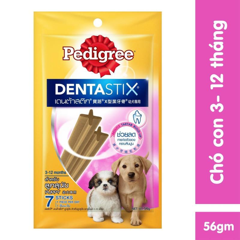 Xương gặm sạch răng cho chó con Pedigree Dentastix 56g
