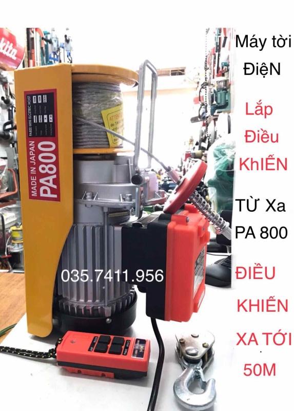 máy tời treo - máy tời Điện - lắp điều khiển từ xa PA800kg - SP - PA800