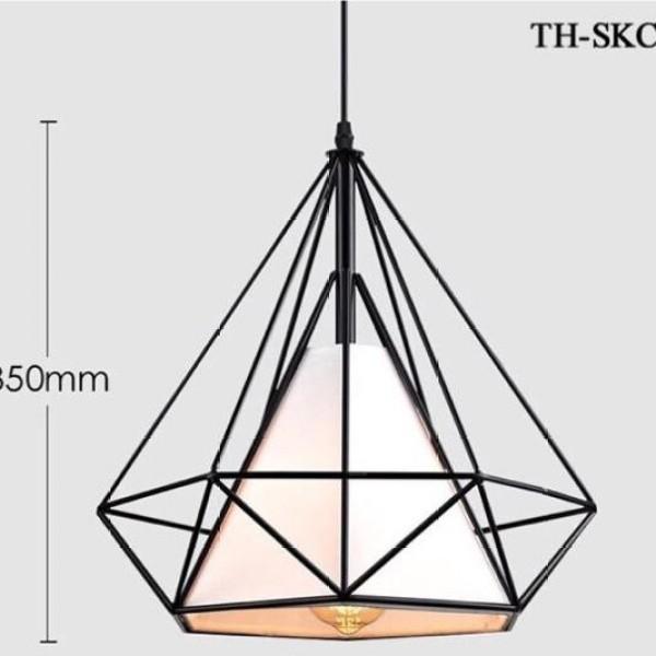 Đèn thả kim cương loại to 35cm
