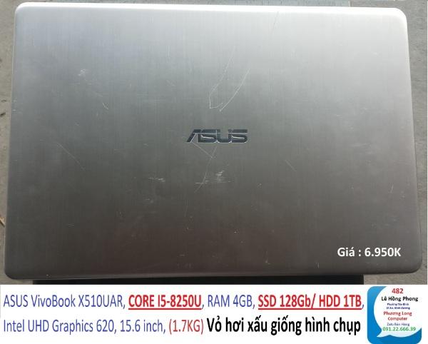 Bảng giá Laptop ASUS VivoBook X510UAR, CORE I5-8250U, RAM 4GB, SSD 128Gb/ HDD 1TB, Intel UHD Graphics 620, 15.6 inch, (1.7KG) Phong Vũ