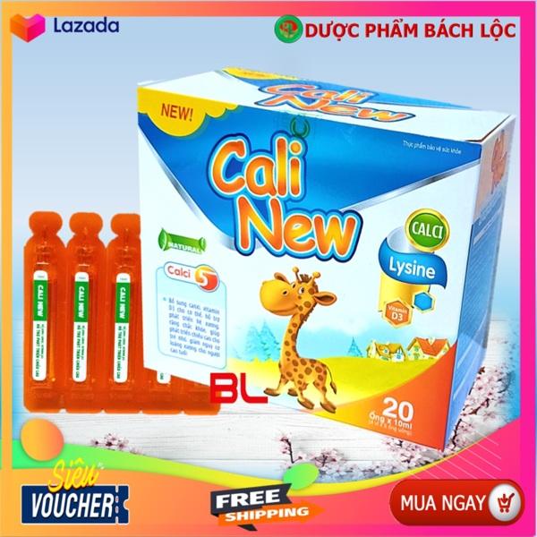 Ống Uống Bổ Sung Canxi, Vitamin D3, Cali New Giúp Phát triển hệ xương, răng chắc khỏe, Phát triển chiêu cao,giảm loãng xương giá rẻ