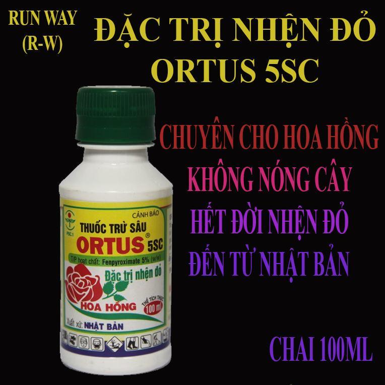 THUỐC TRỪ NHỆN ĐỎ ORTUS 5SC - CHUYÊN CÂY BÔNG HỒNG (100ML)