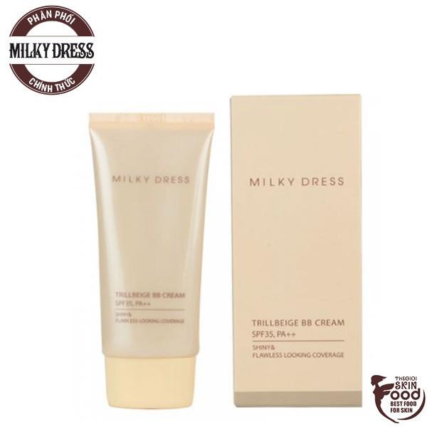 [Size 50ml] Kem Nền 3 In 1 Che Phủ Tốt, Kiềm Dầu Milky Dress Trillbeige BB Cream