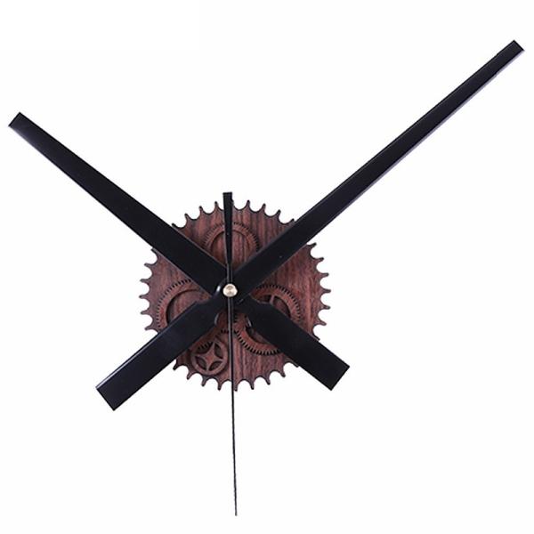 Retro Noiseless Wall Clock Silent Movement Kit Mechanism Parts With Clock Hands Wall Clock Diy Repair Parts Mahogany bán chạy