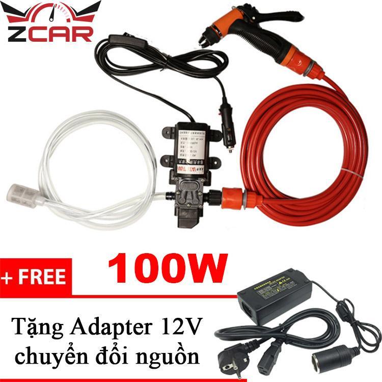 Voucher Khuyến Mại Máy Bơm Rửa Xe Tăng áp Mini - SHA06 (Tặng Adapter)