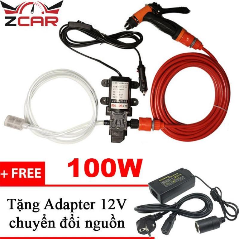 Máy bơm nước , máy bơm nước 12v, máy rửa xe mini, máy bơm rửa xe tăng áp mini - SHA06 (Tặng Adapter)
