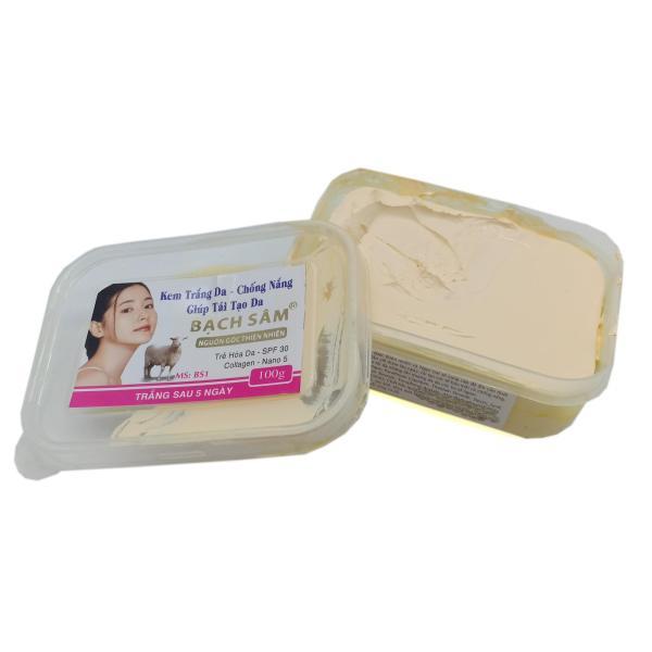 Kem dưỡng trắng da toàn thận Bạch Sâm BS1 100g (Trắng) giá rẻ