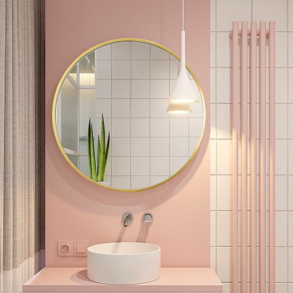 gương tròn treo tường khung kim loại gương 4 kích thước có sẵn Gương phòng tắm gương treo tường gương phòng gương trang điểm với khung gương thẩm mỹ giảm giá gương phòng ngủ gương tròn gương lớn toàn thân gương tròn treo tường khung k