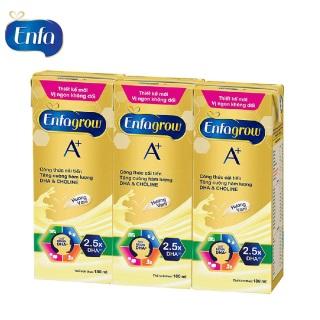 Lốc 3 hộp sữa bột pha sẵn Enfagrow A+4 hương Vani 180ml thumbnail