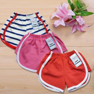 Combo 3 quần đùi thun bé gái - quần short cho bé nhiều màu, vải cotton 100% cao cấp 4 chiều, thấm hút mồ hôi, co giãn tốt, quần short bé gái dễ thương thumbnail