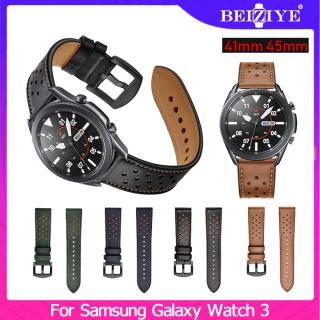 Dây da thể thao 20mm 22mm thay thế cho đồng hồ Samsung Galaxy Watch3 45mm 41mm Beiziye - INTL thumbnail