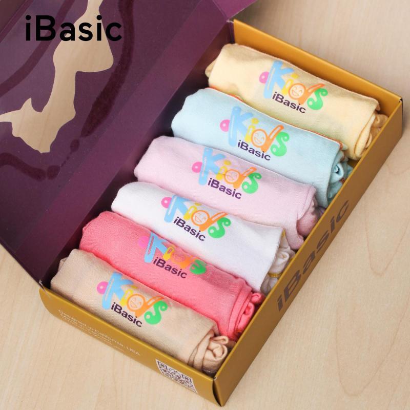 Nơi bán Hộp 6 cái quần lót bé gái boyshort iBasic KG002P chất liệu 100% cotton bảo vệ an toàn cho da nhạy cảm của bé - Tặng túi bảo vệ môi trường