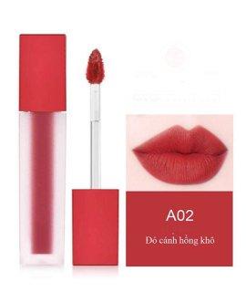 Son môi kem lì dưỡng mối cao cấp, không trôi, mềm, mẫu mới nhất siêu xinh siêu sang chanh - Amishashop98 Đỏ cánh hồng phai A02 thumbnail