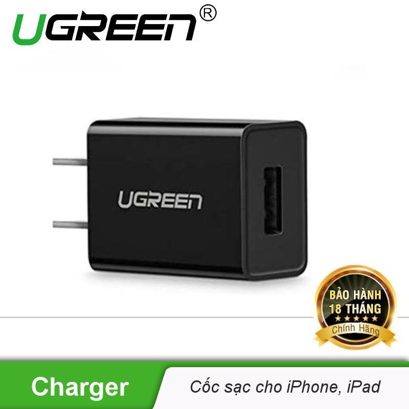 Cốc sạc nhanh 5V-2.1A cho iPhone, iPad, Android, chipset thông minh tự ngắt khi sạc đầy UGREEN CD112