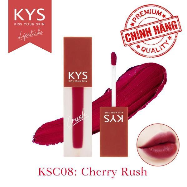 Son kem lì chocolate khử chì Crush KYS (Cherry Rush)