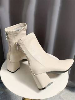 Bốt da,Boot nữ, boots nữ da 6p,Bốt da mềm khóa sau cao cấp mẫu hot 2020 TẶNG KÈM MASK cấp ẩm