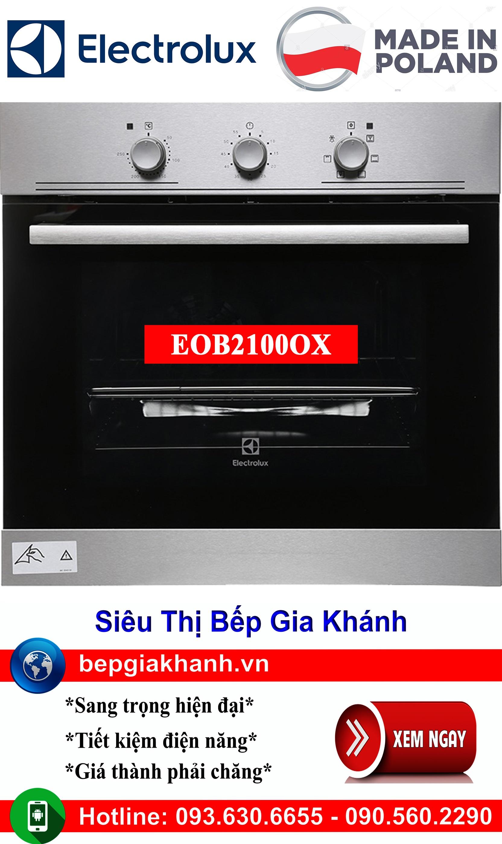 Lò nướng lắp âm tủ Electrolux EOB2100OX nhập khẩu Ba Lan, lò nướng, lò nướng điện, lò nướng điện đa năng, lò nướng mini, lò nướng bánh, lò nướng lock and lock, lo nuong, lo nuong dien da nang