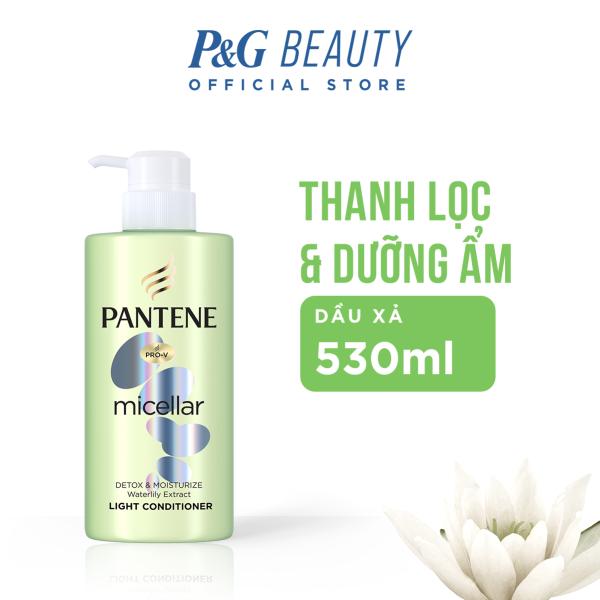 [Tặng 3 Ariel 360g đơn 159k] Dầu xả Pantene Micella Làm sạch và Dưỡng ẩm từ Hoa Lily chai 530ml [6-10.06] giá rẻ