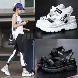 (Video 2 màu) Sandal nữ,sandal học sinh độn đế 5p fashion kiểu dáng mới siêu đẹp 1
