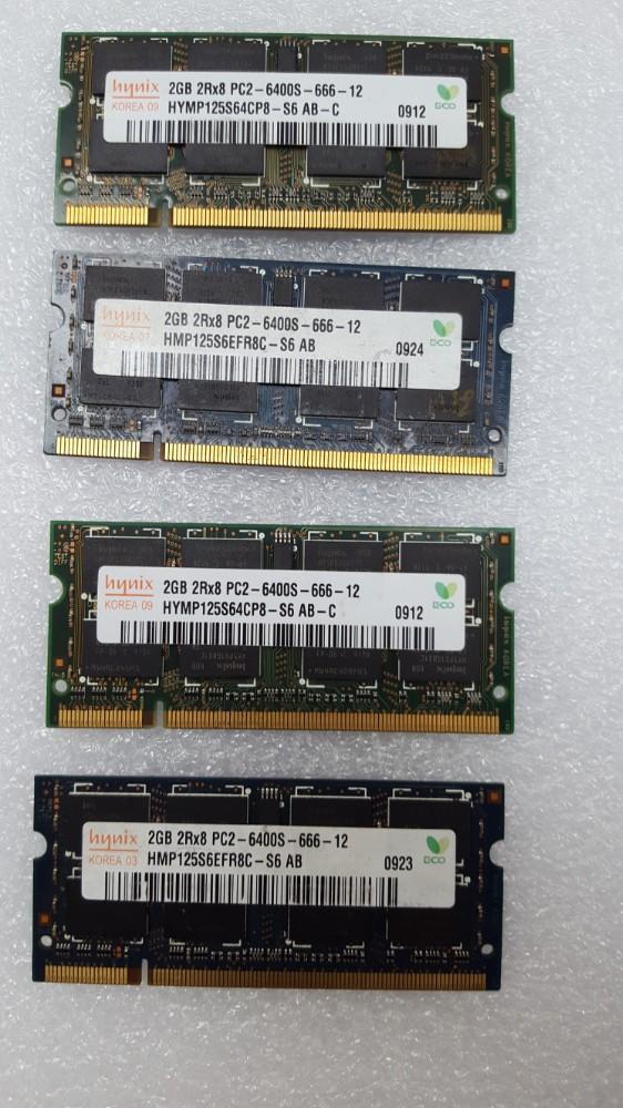 Ram Laptop DDR2 2G bus 667, 800 nhiều hiệu bao xịn