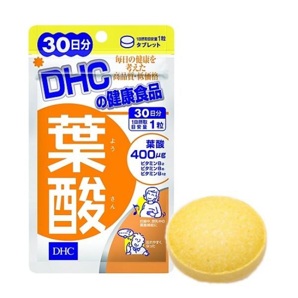 Viên uống vitamin cho bà bầu DHC Folic Acid gói 30 viên