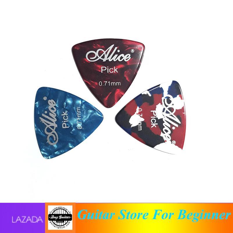 Bộ 3 Cái Pick Alice 0.71mm - Màu Sắc Ngẫu Nhiên - Shop Duy Guitar 3 Cái Phím Gải Hiệu Alice Mẫu Tam Giác Dễ Cầm Giảm Duy Nhất Hôm Nay