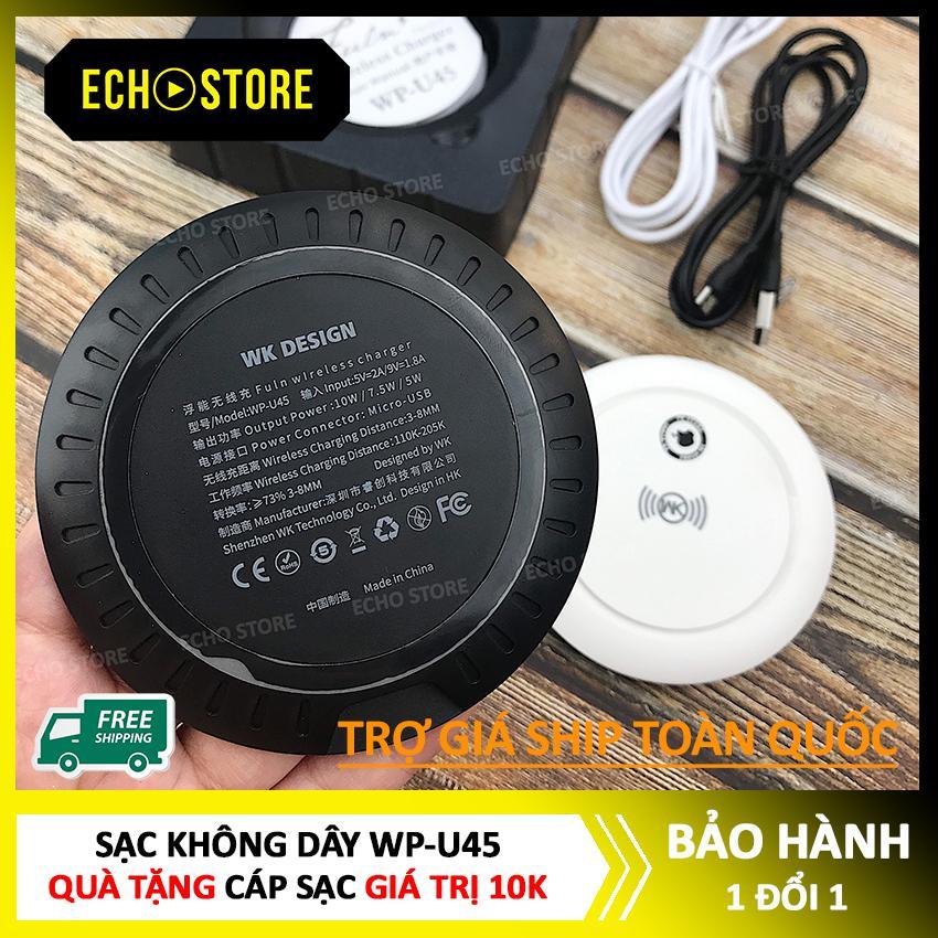 Giá Sạc không dây WP-U45, sạc không dây WP hỗ trợ chuẩn Qi 10w, Lỗi 1 đổi 1 trong 7 ngày đầu, sạc không dây giá rẻ, sạc không dây điện thoại - ECHO STORE