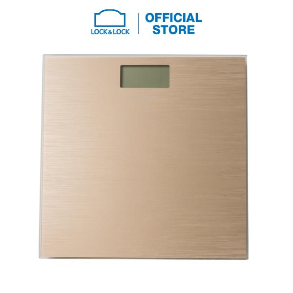 Cân sức khỏe điện tử Lock&Lock dùng trong gia đình, pin sạc ENC526SLV - 180kg - Màu vàng đồng cao cấp