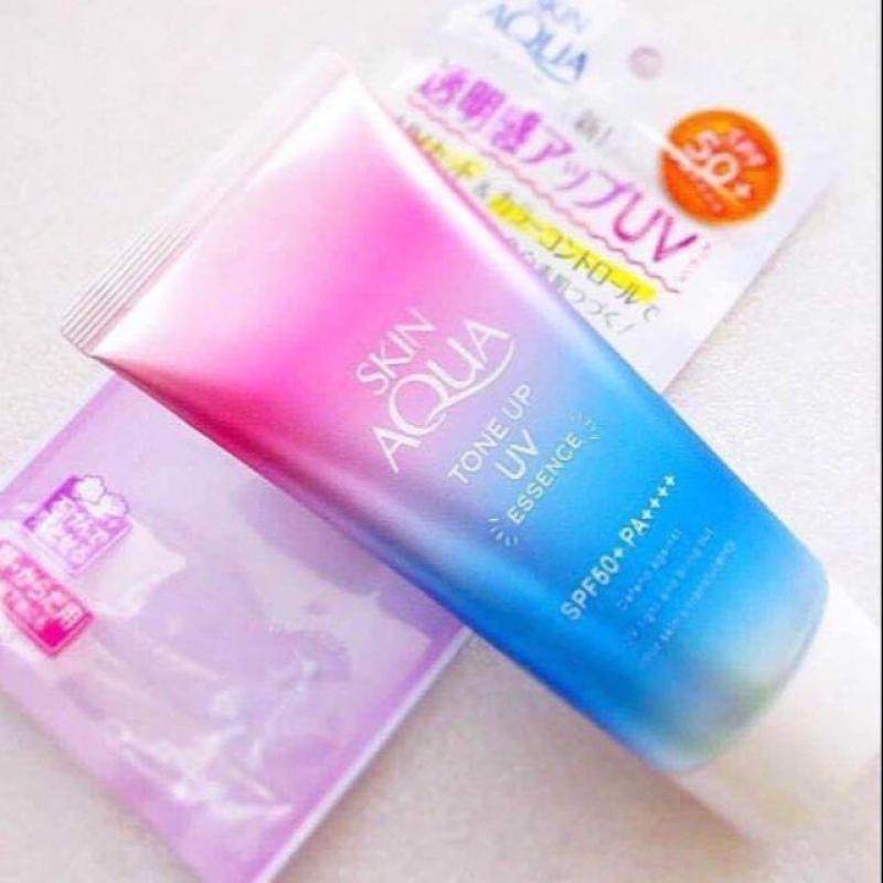 Kem Chống Nắng Skin Aqua Tone Up SPF 50+ Nâng Tone, Làm Trắng Da, Điều Chỉnh Màu Da Ánh Tím nhập khẩu