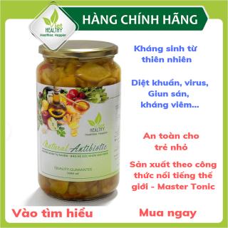Kháng sinh tự nhiên Viet Healthy 1000ml- Giấm táo ngâm gia vị Viet Healthy- Dấm táo ngâm gia vị có chứa những chất kháng sinh từ thiên nhiên, an toàn tuyệt đối cho sức khỏe thumbnail