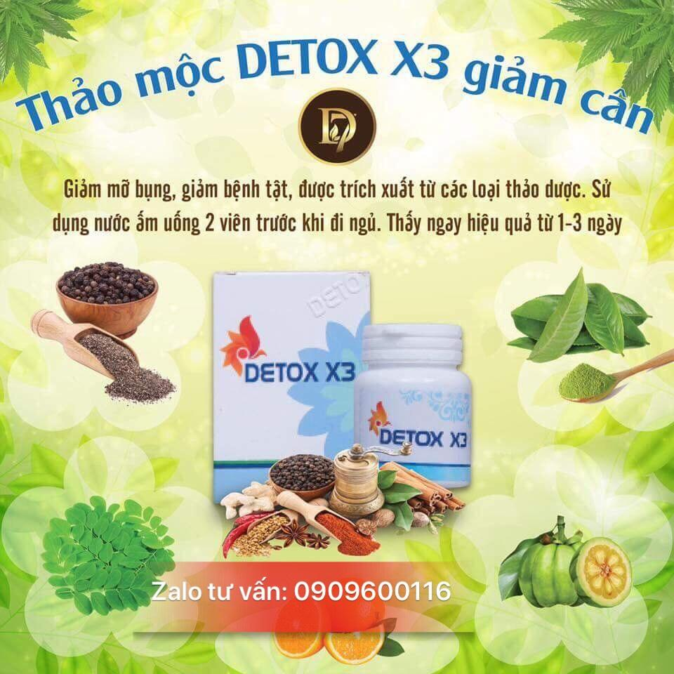 DETOX X3 THẢO MỘC GIẢM CÂN (CQ CLIM COFFEE )